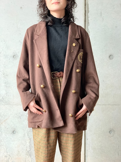 Vintage Doble Breasted Blazer Jacket Made In England