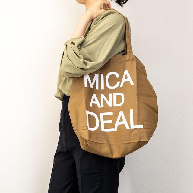 【MICA&DEAL/マイカアンドディール】MICAロゴコットンバッグ(キャメル)