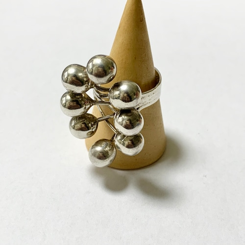 Vintage Modernist Balls Ring Made In Mexico ①