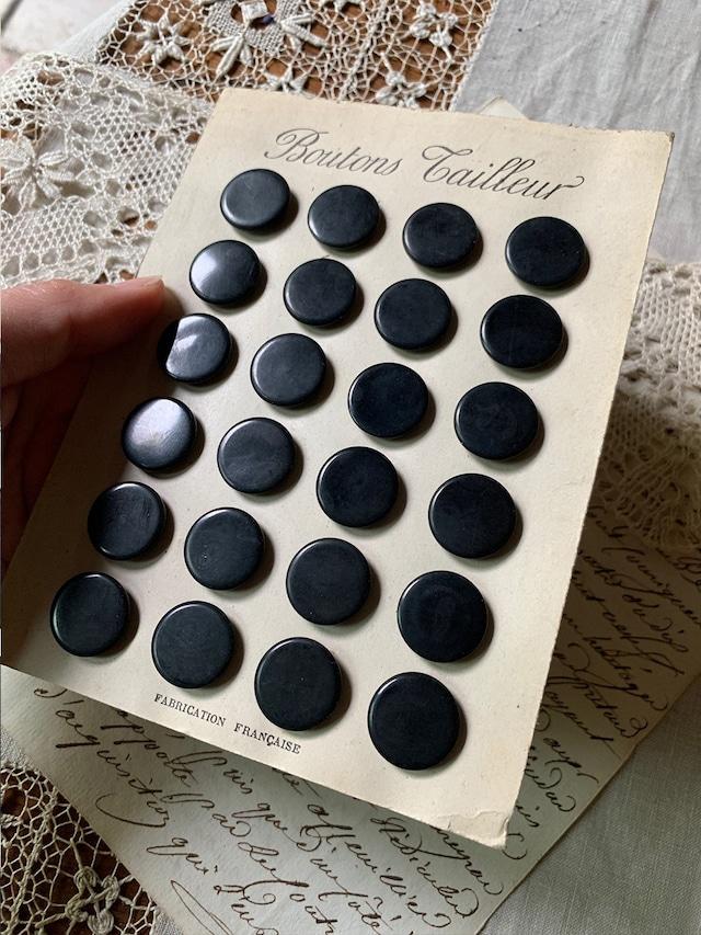 黒いボタンシート 無地シンプル つや消しブラック