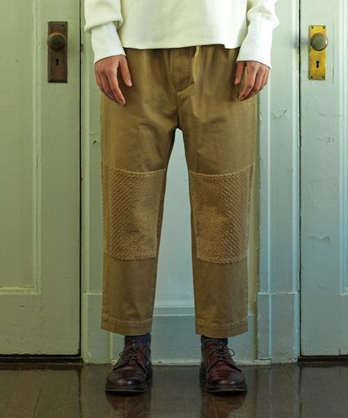 Cotton Knee Change Pants -beige <LSD-BJ3P8>