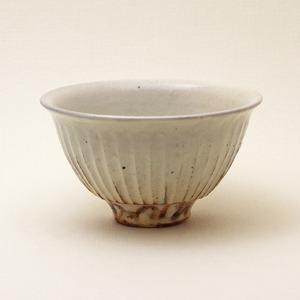 鉄散 線彫飯碗 大 古谷製陶所 信楽焼