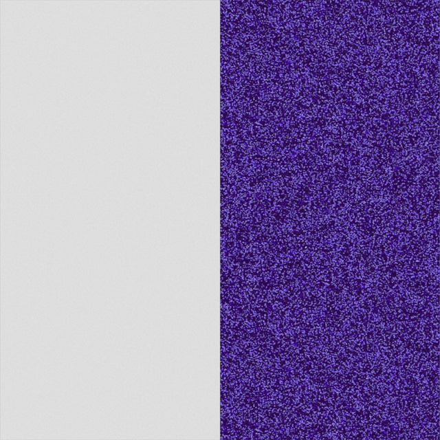 【エリゼ宮殿 x レジョルジェット カプセルコレクション】25mmレザー ブランリベルテ&ブルーパユテ (ブルーグリッター&ホワイト)
