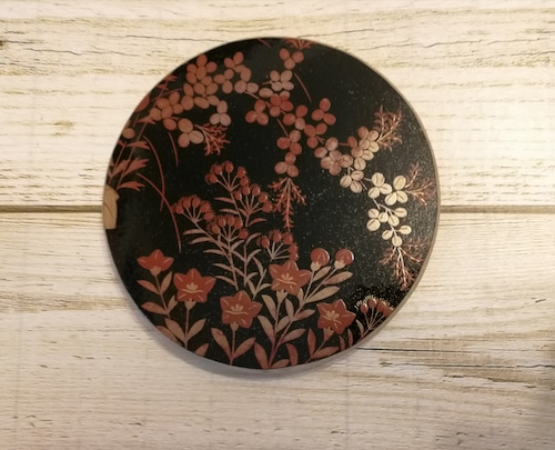 蒔絵♗漆のベース,7 inch,round用, B★ナンタケットバスケット