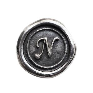 シーリングイニシャル S 〈N〉 シルバー / コンチョボタン