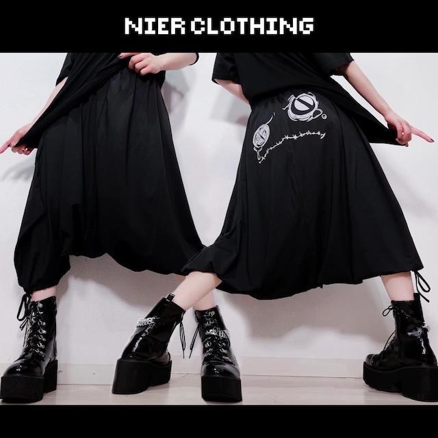 BLACK SARROUEL PANTS【CRYING FACE】