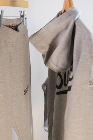 LOGO ZipUp Hooded Jersey [GRAY]