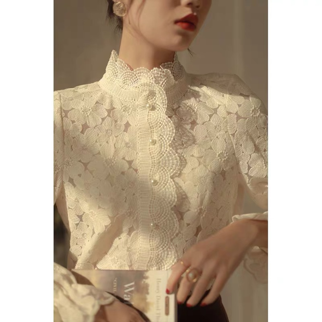 total flower lace tops