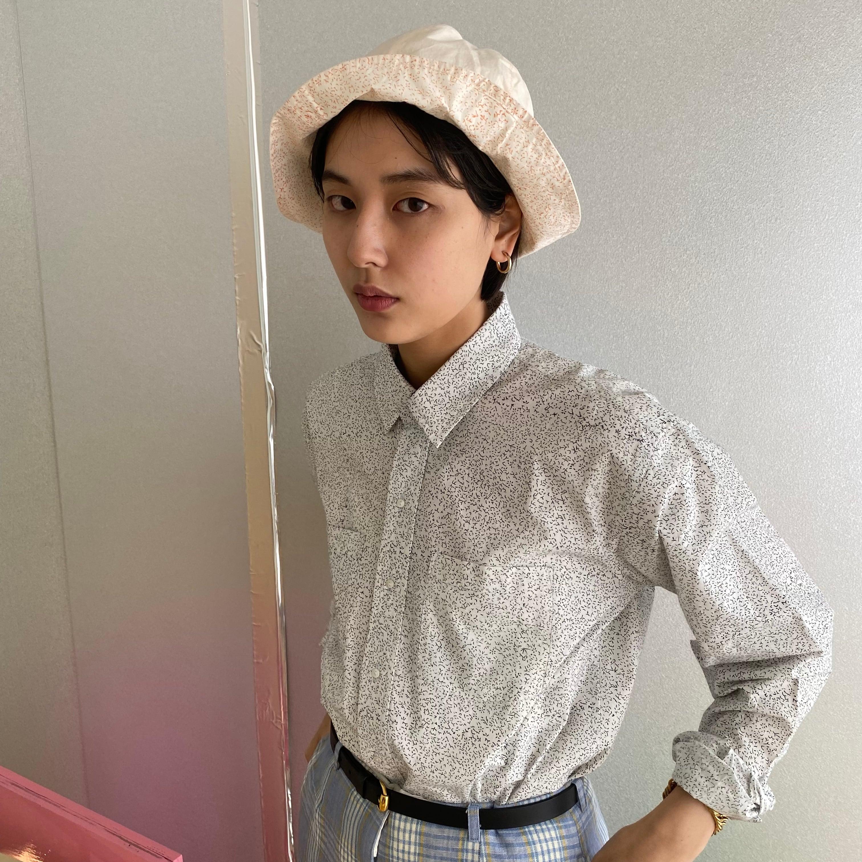 "Reversible bucket hat ""block print baby pink"" organic cotton"