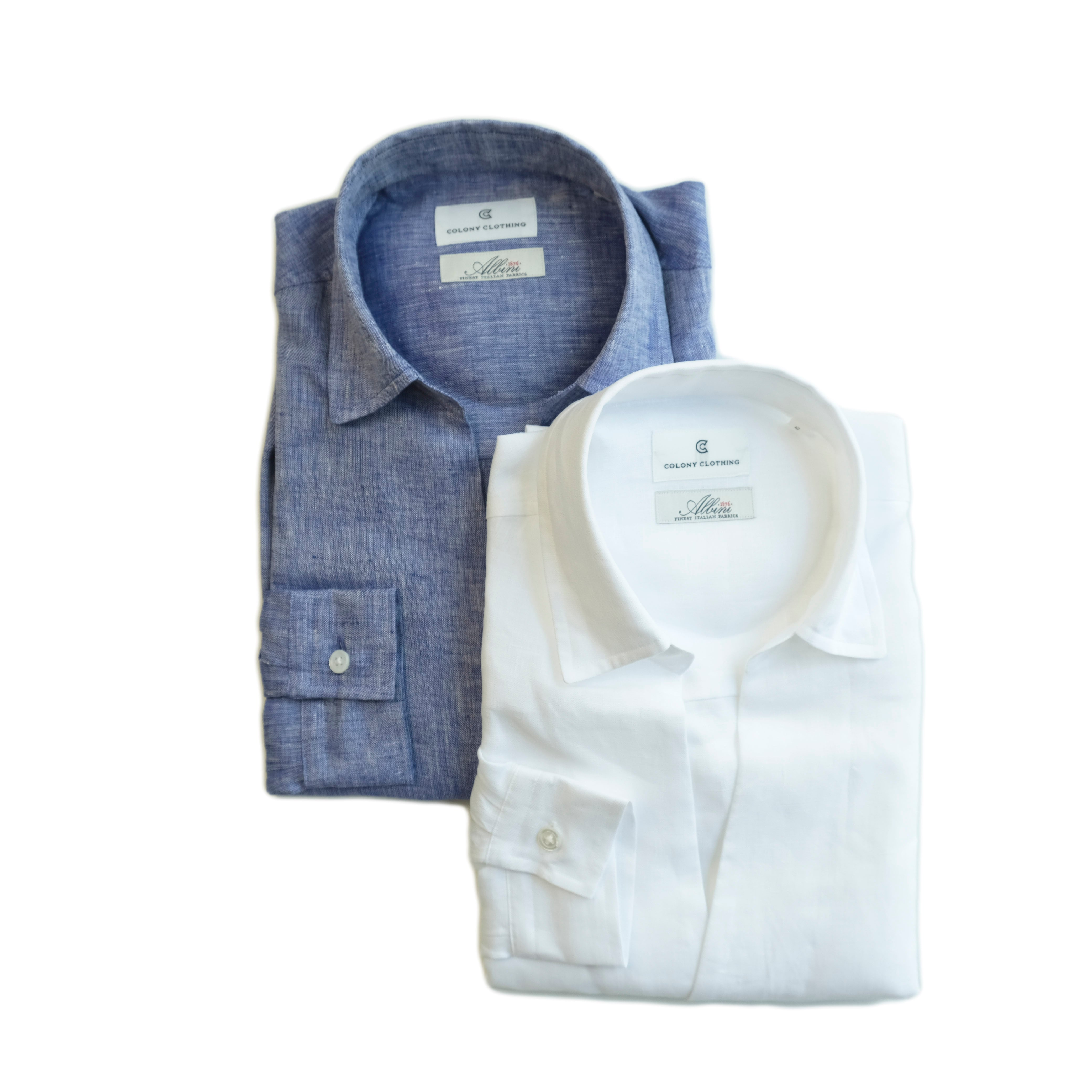 COLONY CLOTHING / ALBINI LINEN POOL SIDE SHIRT / CC21-SH02-1(SALE)