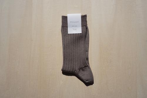 Silk Rib Socks [Taupe]