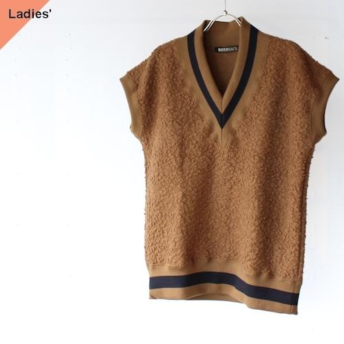 HAVERSACK ハバーサック Sheep Pile Knit Vest シープパイルニットベスト 312001 Brown