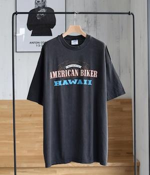 VINTAGE Motorcycle T-shirt -AMERICAN BIKER HAWAII-
