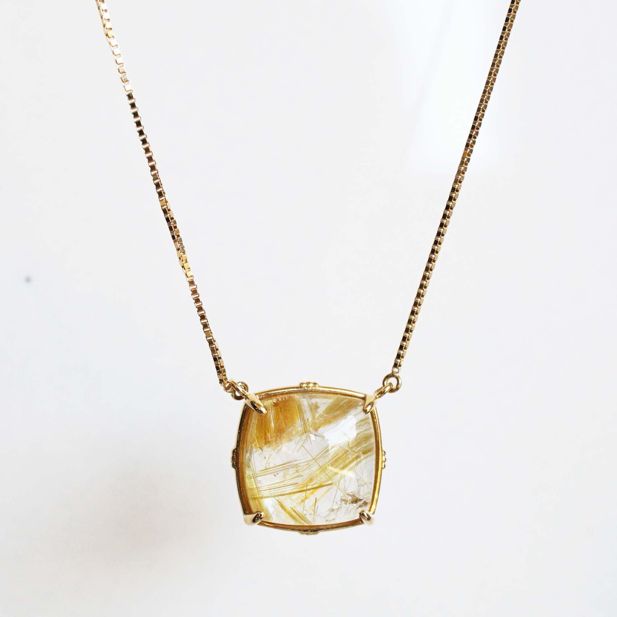 Rutilated Quartz Necklace(N197-RQ)