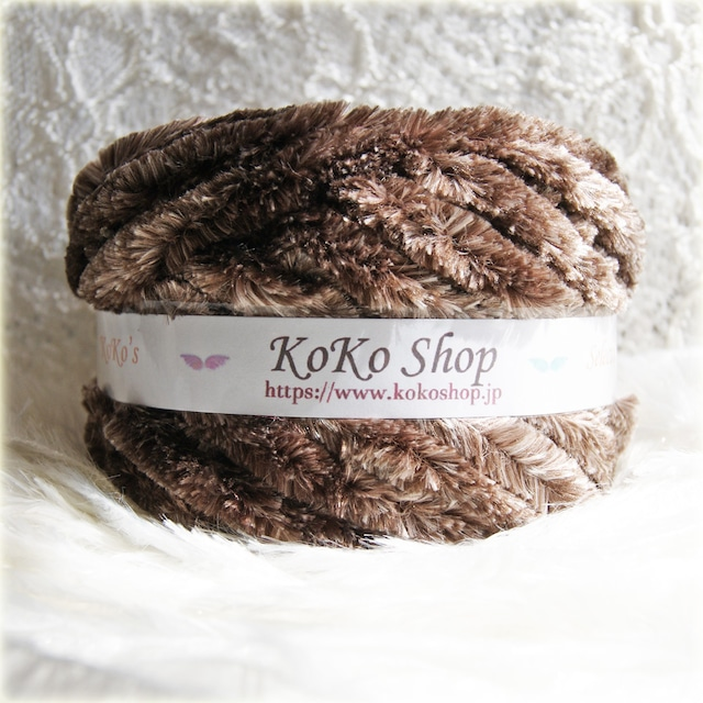 §koko's Selection§ ビッグモール マーブルチョコ アクリル100% 1玉 65g以上 約25m以上 やわらか 編み物