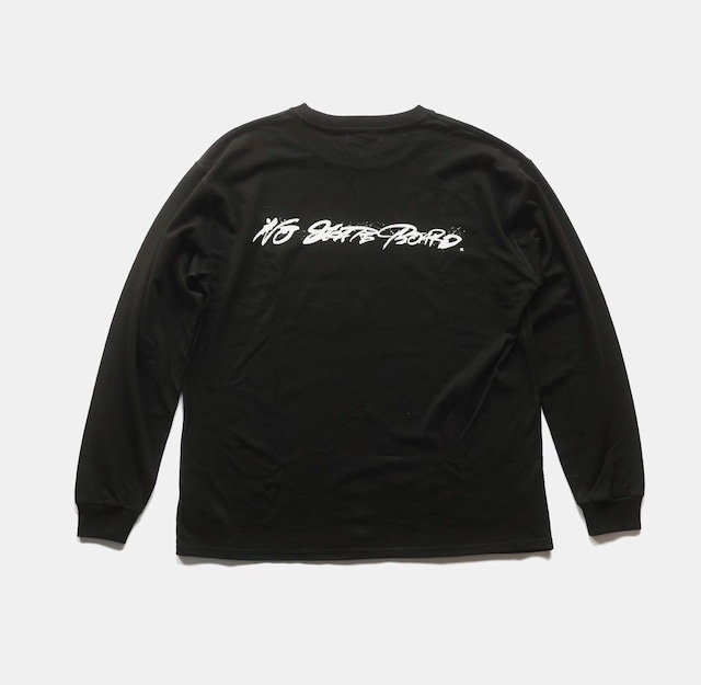 NO SKATEBOARD × SHIDO AKAMA L/S SHIRT BLACK