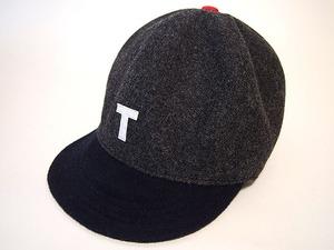 """ウール ベースボールキャップ 64㎝ """"WOOL BASE BALL CAP"""" (GRAY×NAVY """"T"""" 64)"""