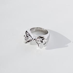 RING || 【通常商品】 PUKKURI RIBBON RING (SILVER) || 1 RING || SILVER || FBA016