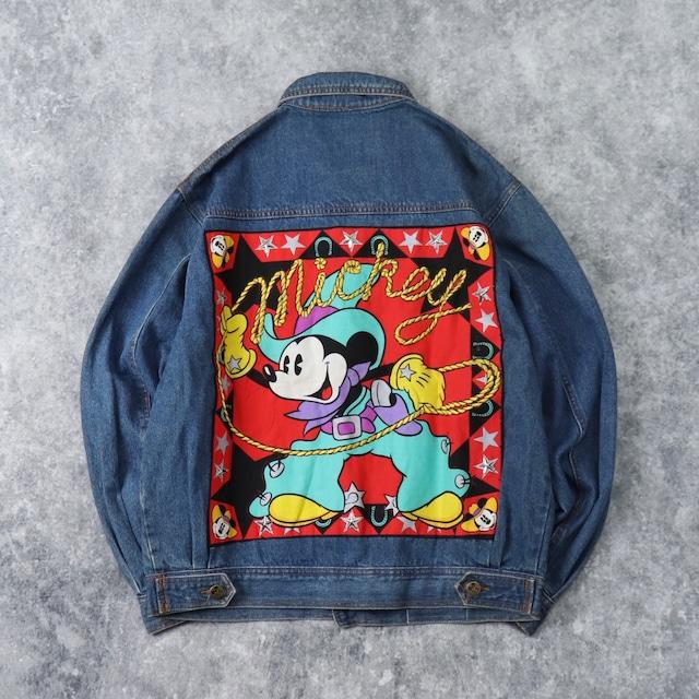 """90年代 """" Mickey Mouse """" ミッキーマウス デニムジャケット M 古着 A77"""