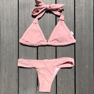 Bikini♡シンプルホルタービキニ ピンク