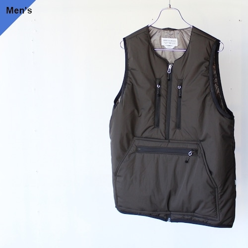 【21AW】ENDS and MEANS エンズアンドミーンズ Tactical Puff Vest アフリカンブラック EM-ST-J02