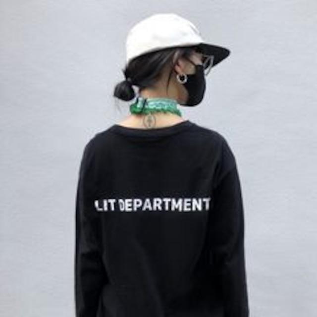 【翌日発送】LIT DEPARTMENT Original logo long Tee  LD0142