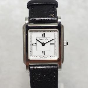 TIFFANY & Co. ティファニー 17-251 スクエア SS クォーツ 革ベルト 腕時計 レディース
