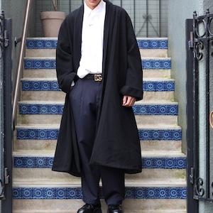 EUROPE VINTAGE BIG SIZE SHAWL COLLAR WOOL COAT/ヨーロッパ古着ビッグサイズショールカラーコート(男女兼用)