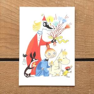 ポストカード「ムーミン谷のイースター(ポスクリース)」
