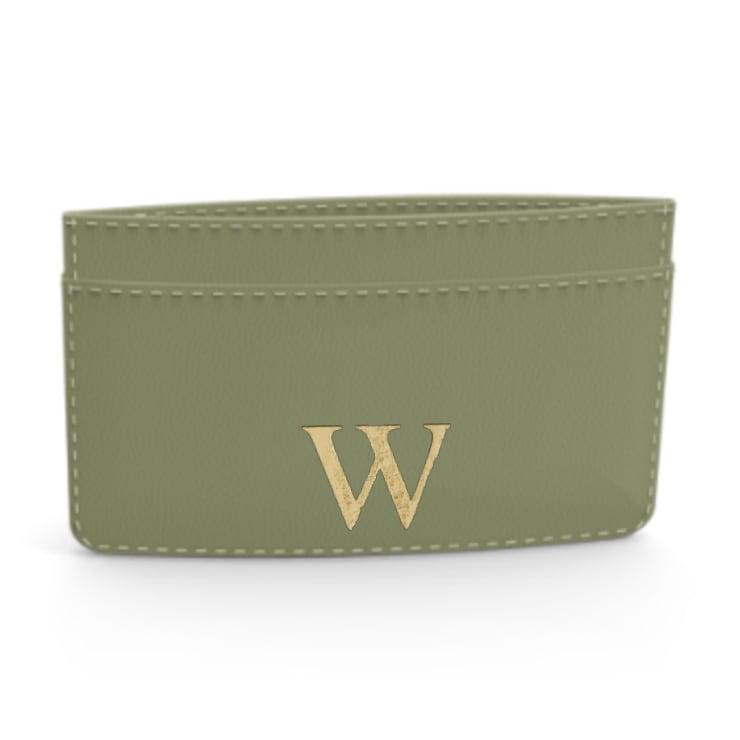 Premium Smooth Leather Card Case (Green Tea)