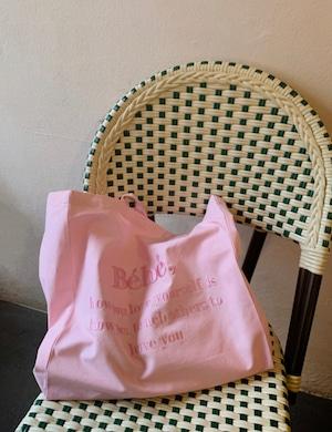 【即納】全4色BeBe刺繍ロゴBIGエコバッグ