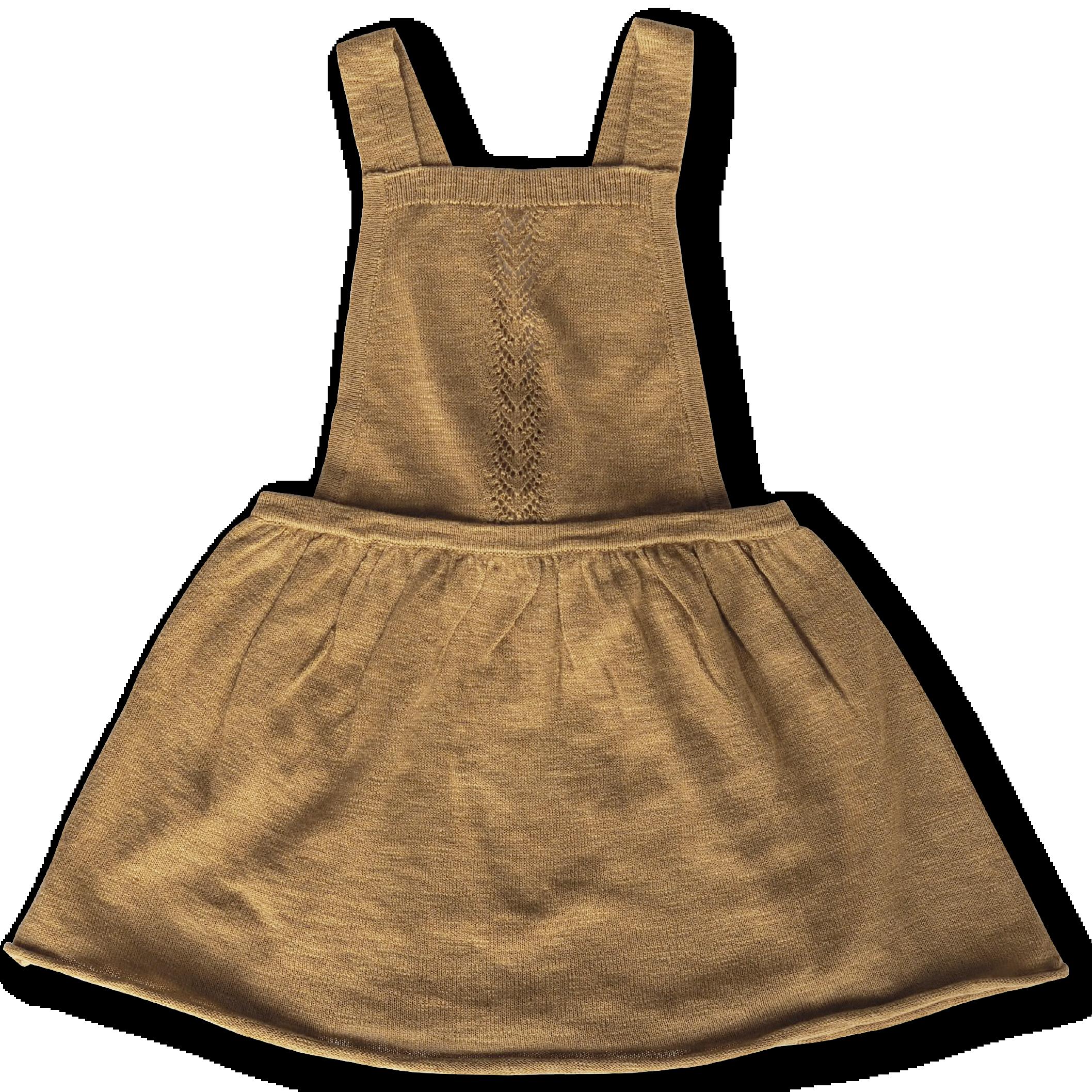 Grown / - Festive Collection - Slub Linen Dress  5Y