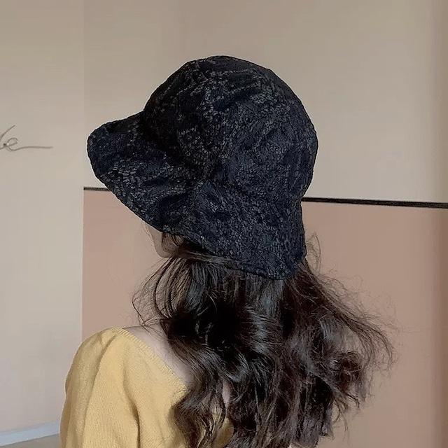 lace bucket hat 2color