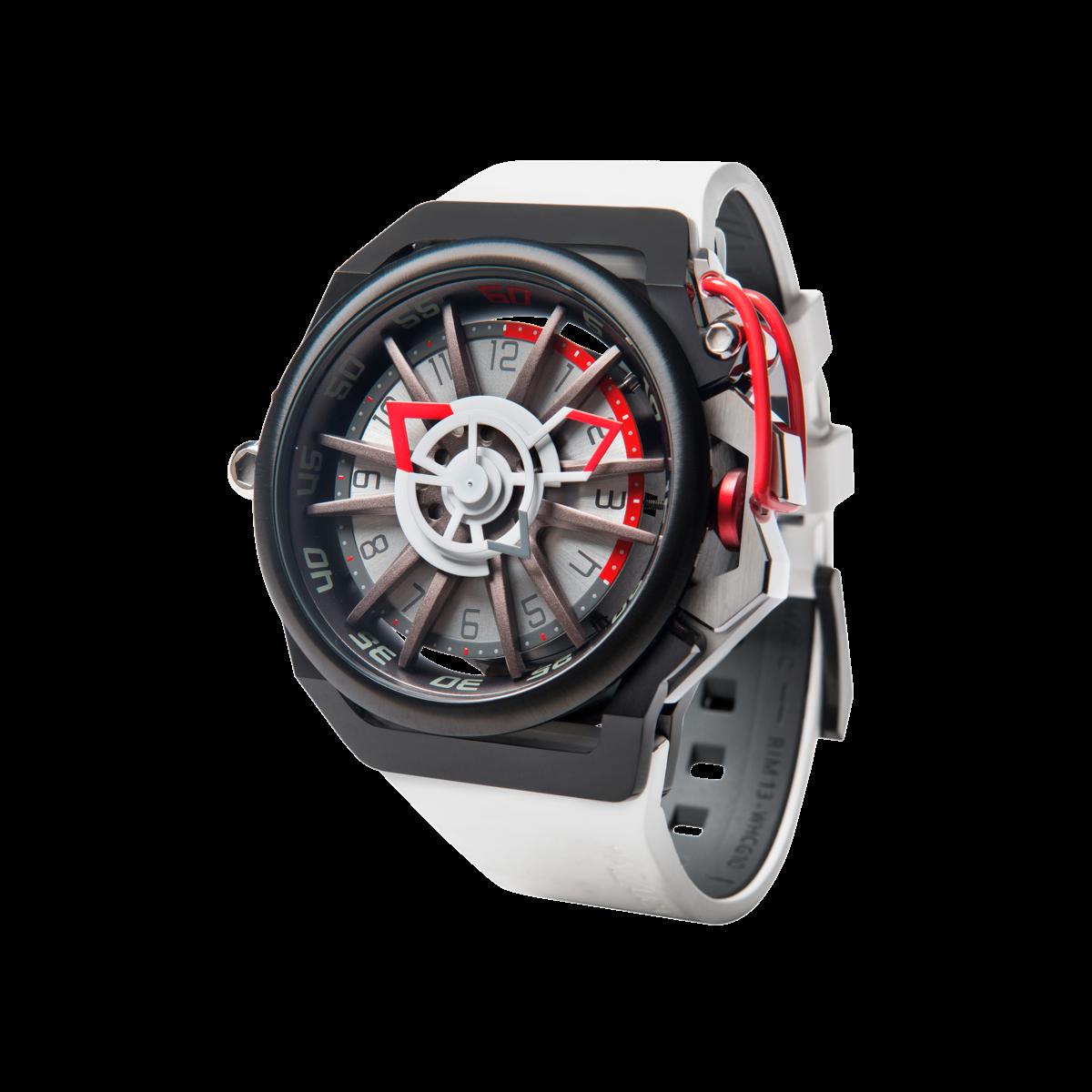 【MAZZUCATO マッツカート】RIM-13(ホワイト×ブラックレッド)/国内正規品 腕時計