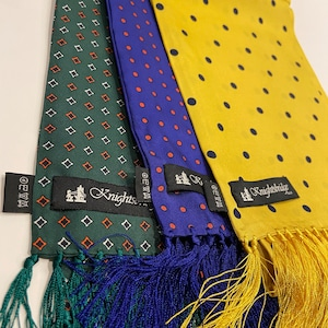 【Knightsbridge】Silk scarves (dot)