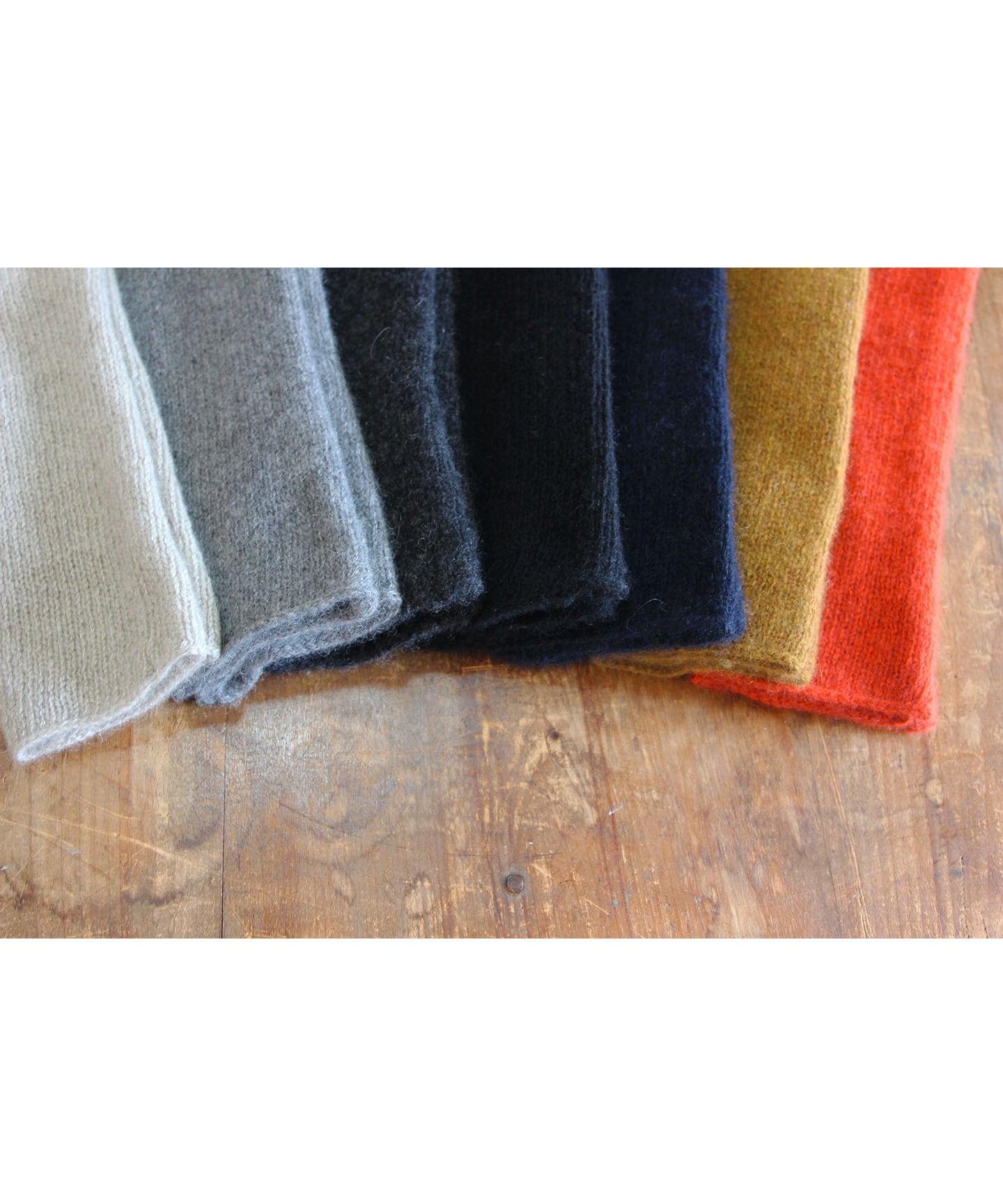 手編み機で編んだカシミヤセーブルアームウォーマー(7色) CAA-010