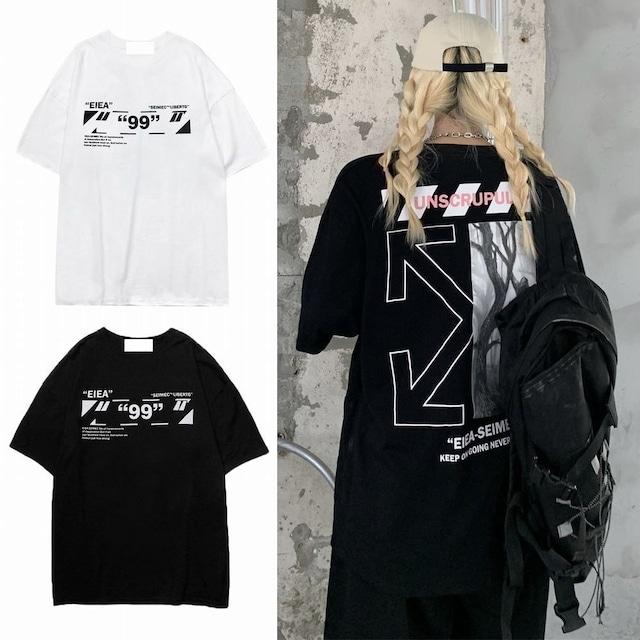 ユニセックス Tシャツ 半袖 ラウンドネック バックプリント オーバーサイズ メンズ レディース トップス 大きめ カジュアル ストリートファッション TBN-647820082238