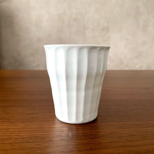 【波佐見焼】白磁手彫竹林 焼酎カップ