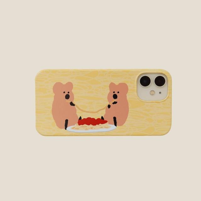 [DINOTAENG] Spaghetti Party ハード iPhoneケース(全3機種)