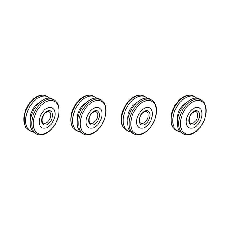 ◆OSHM2058  M2共通キャノピーラバーナット4ps(ネオヘリでM2購入者のみ購入可)