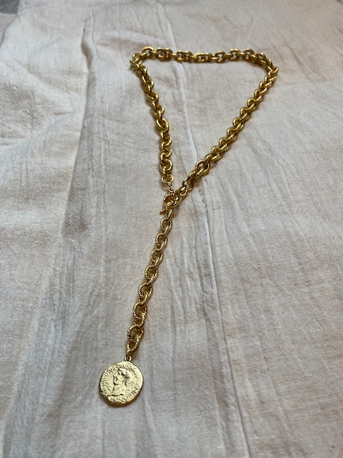 Soierie  aging coin lariat