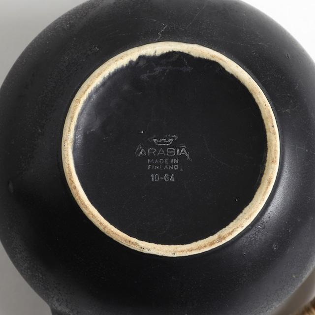 ARABIA アラビア GAシリーズ  GA1 黒 ポット - 3 北欧ヴィンテージ