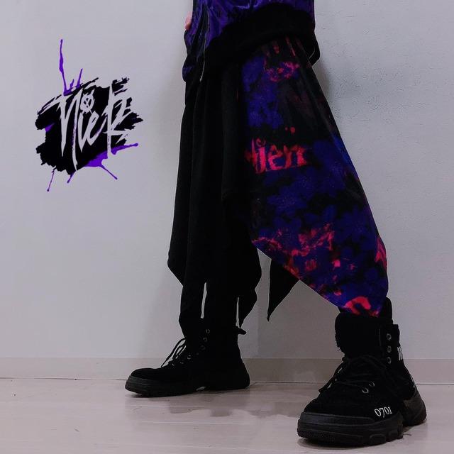 変則フラップスカート付きパンツ【三角草】