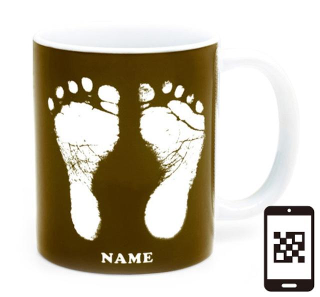 ai mug   A-type (BROWN) QRコード付き