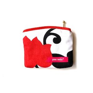 北欧デザイン ティッシュケース付ポーチ   matthew red
