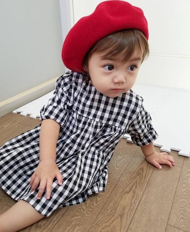 英国風♡真っ赤なベレー帽