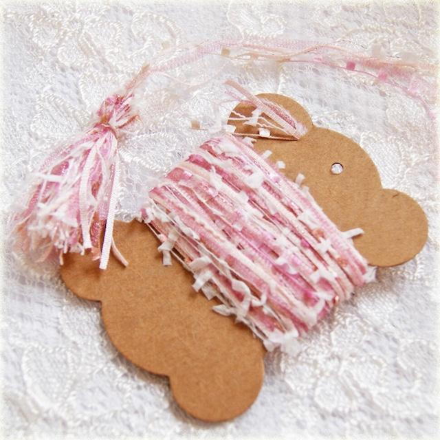 §koko§ 引き揃え糸カード ~感謝の花束~オリジナル糸 ファンシー ラッピング レース タッセル