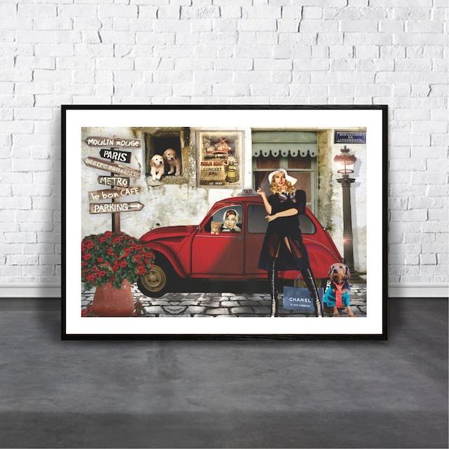 Bardot & Hepburn / 【アートポスター専門店 Aroma of Paris】[AP-000169]