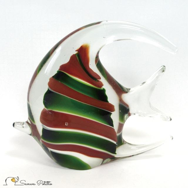 ガラスのオブジェ エンゼルフィッシュ A 熱帯魚 083-418 高さ14.5cm インテリア おしゃれ きれい 上品 プレゼント ギフト
