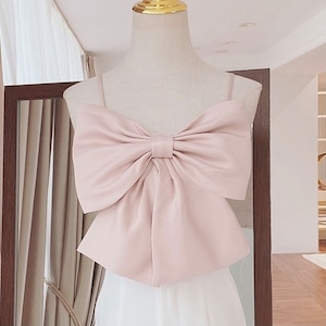 ribbon camisole(Pink)